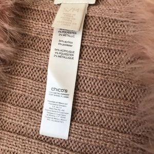 Chico's faux fur blush vest